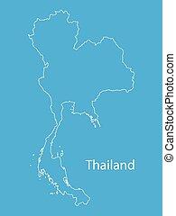 térkép, áttekintés, thaiföld