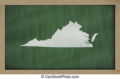 térkép, áttekintés, virginia, tábla