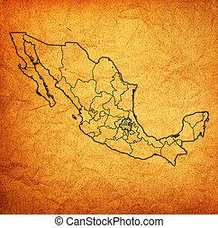 térkép, ügyintézés, hidalgo, mexikó