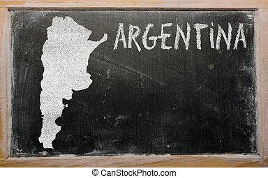 térkép, argentína, áttekintés, tábla