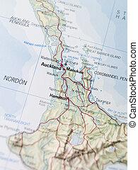 térkép, auckland