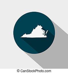 térkép, belétek. s., virginia, állam