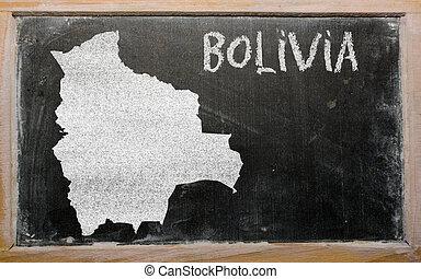 térkép, bolívia, áttekintés, tábla