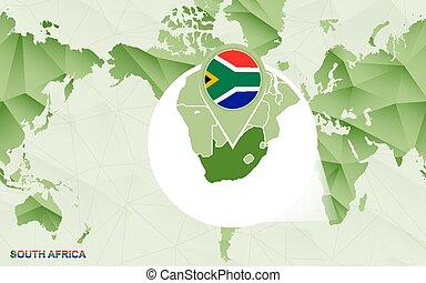 térkép, centric, afrika, map., erősített, világ, amerika, déli