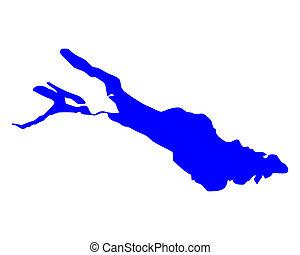 térkép, constance, tó