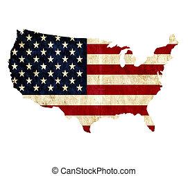 térkép, egyesült, szüret, egyesült államok, dolgozat, amerika