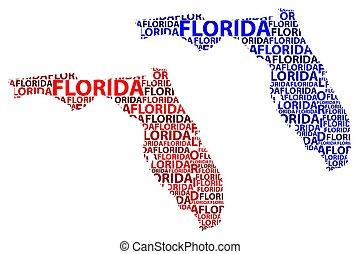 térkép, florida