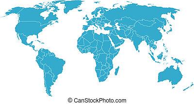 térkép, globális