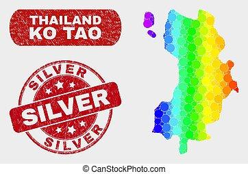 térkép, grunge, watermark, kiütés, fényes, tao, ezüst,...