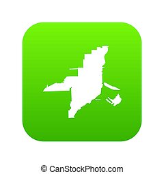 térkép, ikon, florida, zöld, digitális