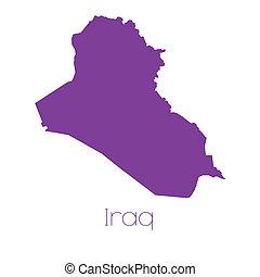 térkép, irak, ország