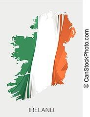 térkép, közül, írország