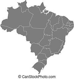térkép, közül, brazília
