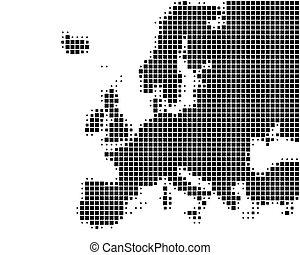 térkép, közül, európa