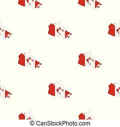 térkép, közül, kanada, alatt, nemzeti lobogó, befest, motívum