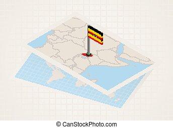 térkép, kiválasztott, 3, lobogó, uganda, uganda.
