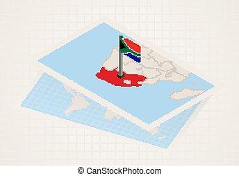térkép, kiválasztott, déli, 3, africa., lobogó, afrika