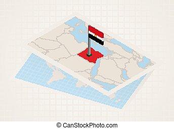 térkép, kiválasztott, egypt., egyiptom, 3, lobogó