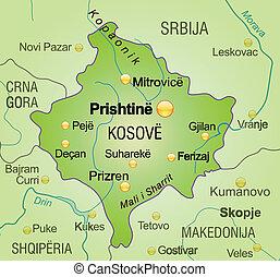 térkép, kosovo