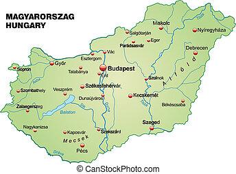 térkép, magyarország
