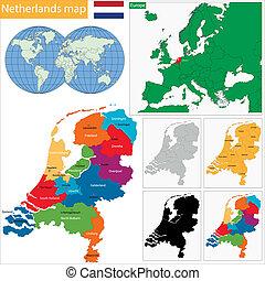 térkép, németalföld