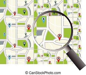térkép, navigáció