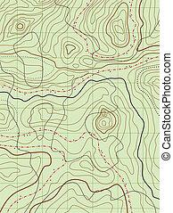 térkép, nem, elvont, vektor, címek, topográfiai