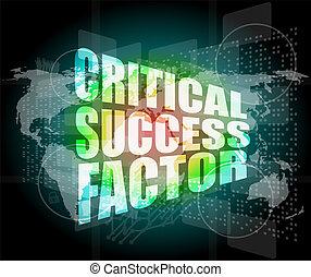 térkép, siker, ellenző, digitális, válságos, szavak, factor...