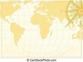 térkép, szó, szüret