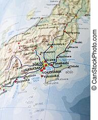 térkép, tokió