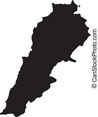 térkép, vektor, libanon, ábra