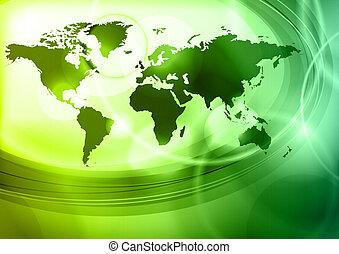 térkép, világ