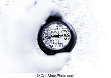 térkép, washington d.. c.