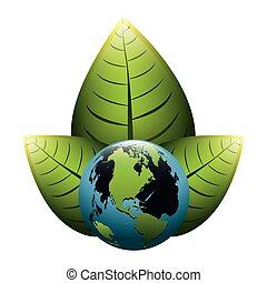 térkép, zöld, földdel feltölt, tető, világ