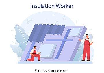 térmico, indústria, isolação, concept., acústico, construção, ou, insulation.