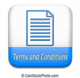 términos, condiciones