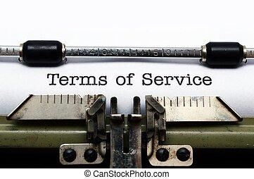 términos, servicio