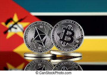 términos, versión, flag., (btc), bitcoin, cryptocurrencies,...