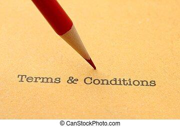 términos, y, condiciones