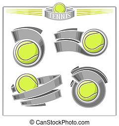 tênis, abstratos, jogo, bolas
