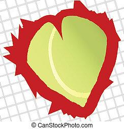 tênis, amor