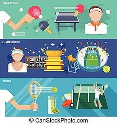 tênis, jogo, bandeira