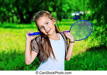 tênis, menina