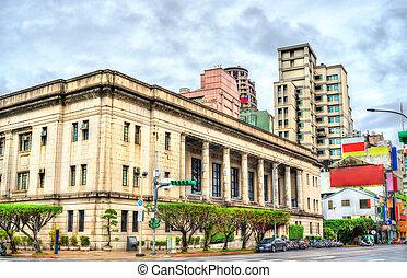 tête, bâtiments bureau, historique, banque, taiwan, taipei