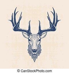 Illustrations et cliparts de cerf 43 115 dessins et illustrations vecteurs eps de cerf - Dessin de tete de cerf ...