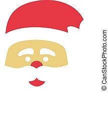 tête, claus, chapeau, santa
