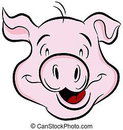 tête, cochon