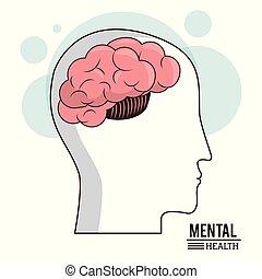 tête, concept, mental, monde médical, cerveau, humain, healthcare, santé