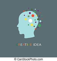 tête, créatif, idées
