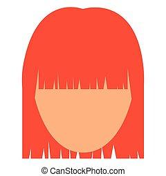tête, femme, conception, avatar, femme
